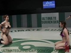 New rookie on the mat gets a face full of tits! Thumb