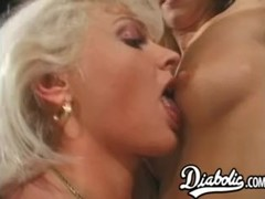 Gorgeous blonde babes assfucked in a big cock fourway Thumb