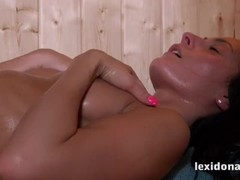 Fit Body - Watch me masturbate while sweating in the sauna Thumb