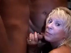 Mature Blonde Doing Black Bucks Thumb